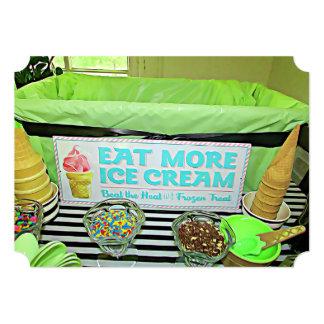 Retro Ice Cream Sign Birthday Party Invitations