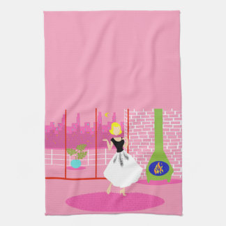 Retro In the Pink Kitchen Towel