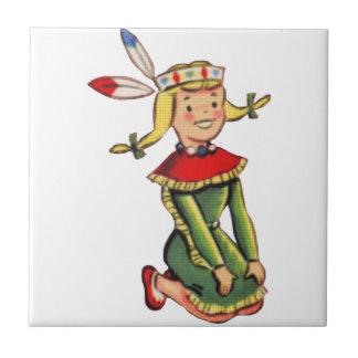 Retro Indian Princess Costume Tiles
