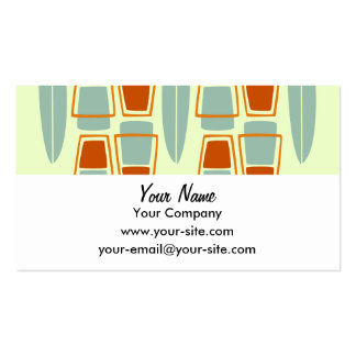 Retro Inspired 1950s Tiki Surfboard business cards