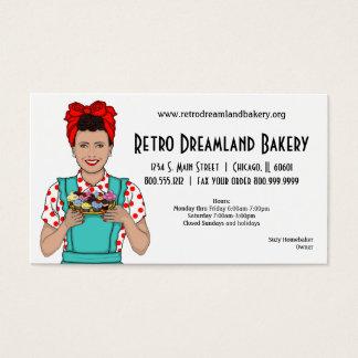 Retro Inspired Bakery Business Card