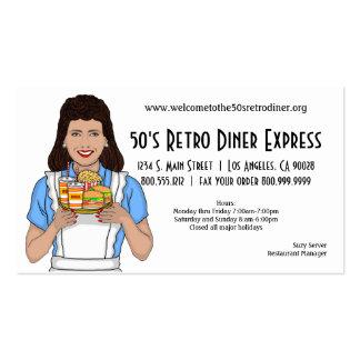 Retro Inspired Diner Or Restaurant Business Card