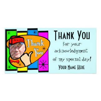 Retro Inspired Photo Thank You Card