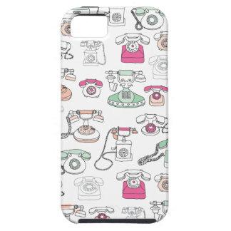 Rétro iphone de motif de téléphone d'art de coques iPhone 5 Case-Mate