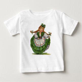 Retro Irish Doll dancer with plaits take a bow Baby T-Shirt
