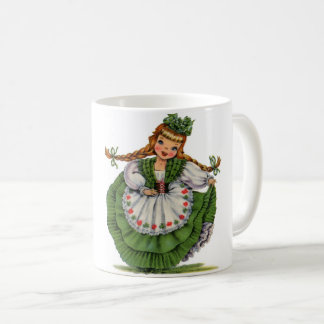 Retro Irish Doll dancer with plaits take a bow Coffee Mug