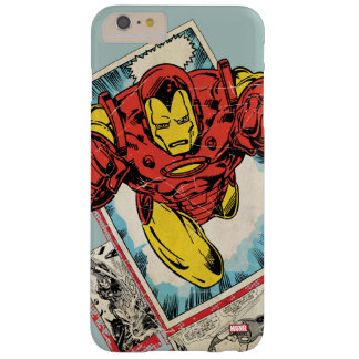 Retro Iron Man Flying Out Of Comic Barely There iPhone 6 Plus Case
