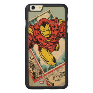 Retro Iron Man Flying Out Of Comic Carved® Maple iPhone 6 Plus Case