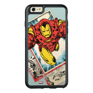 Retro Iron Man Flying Out Of Comic OtterBox iPhone 6/6s Plus Case