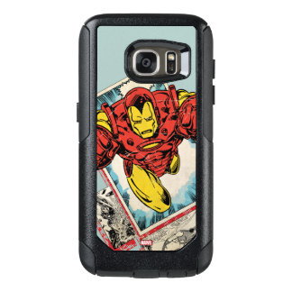 Retro Iron Man Flying Out Of Comic OtterBox Samsung Galaxy S7 Case