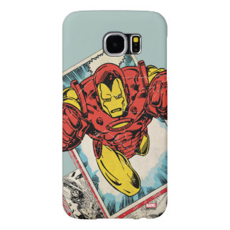 Retro Iron Man Flying Out Of Comic Samsung Galaxy S6 Cases