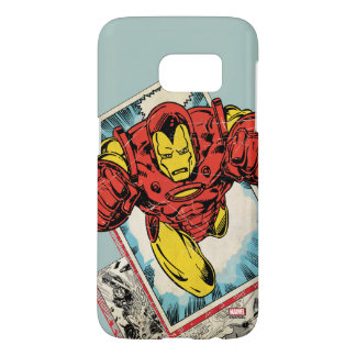Retro Iron Man Flying Out Of Comic Samsung Galaxy S7 Case