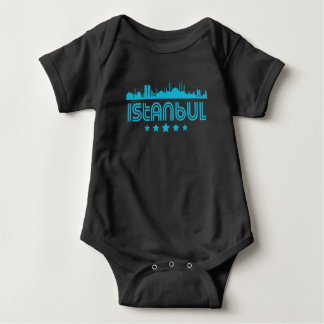 Retro Istanbul Skyline Baby Bodysuit