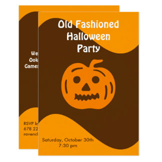 Retro Jack O' Lantern Invitation