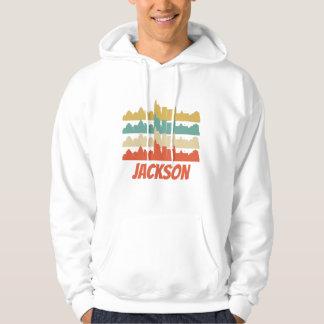 Retro Jackson MS Skyline Pop Art Hoodie