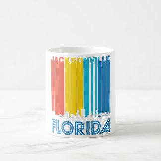 Retro Jacksonville Florida Skyline Coffee Mug