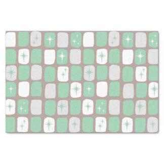 Retro Jade Starbursts Tissue Paper