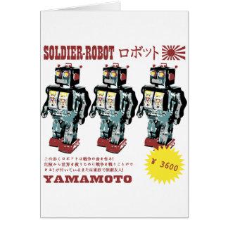 Retro Japanese Toy Robot Advertisement Greeting Card
