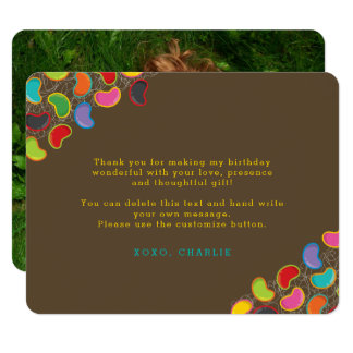 Retro Jellybeans Pop Kid's Birthday Thank You Card