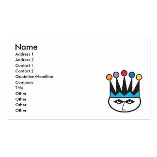 retro jester joker design business card