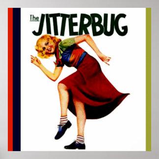 retro jitterbug dance print poster picture