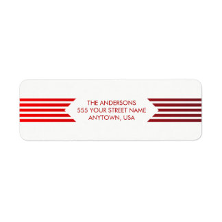 Retro Joy | Modern Holiday Return Address Return Address Label
