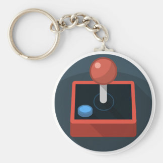 Retro Joystick, 80's style video game joy stick Keychain