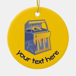 Retro Jukebox Ceramic Ornament