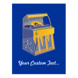 Retro Jukebox Postcard
