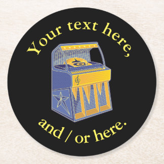 Retro Jukebox Round Paper Coaster