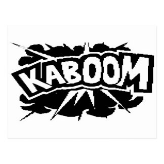 Retro KABOOM! Blast - Black & White Postcard