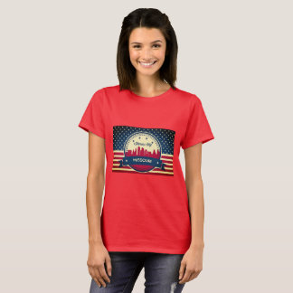 Retro Kansas City Missouri Skyline T-Shirt
