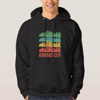 Retro Kansas City MO Skyline Pop Art Hoodie