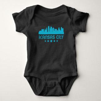 Retro Kansas City Skyline Baby Bodysuit