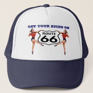 "RETRO ""KICKS"" HAT ~ GET YOUR KICKS ON ROUTE 66"