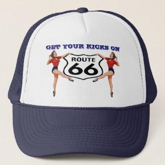 "RETRO ""KICKS"" HAT ~ GET YOUR KICKS ON ROUTE 66"