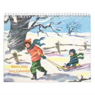 Retro Kids Calendar 2012
