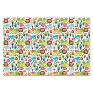 retro kids safari lion wildlife tissue paper