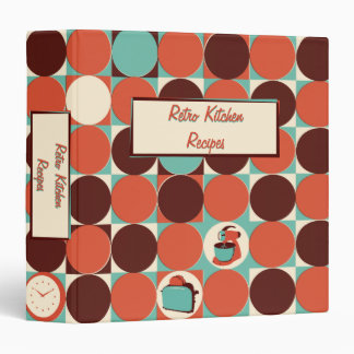 Retro Kitchen 1.5 inch Binder