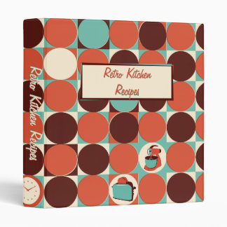 Retro Kitchen 1 inch Binder