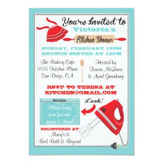 Retro Kitchen Bridal Shower Invitations
