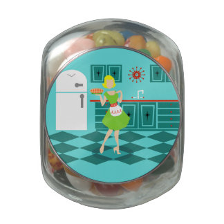 Retro Kitchen Candy Jar Jelly Belly Candy Jar