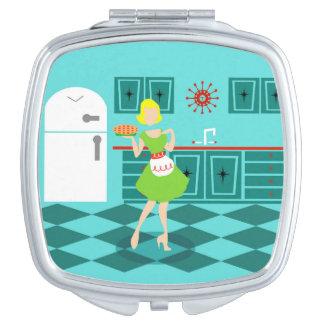 Retro Kitchen Compact Mirror