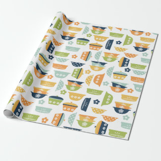Retro Kitchen Dishes Wrapping Paper