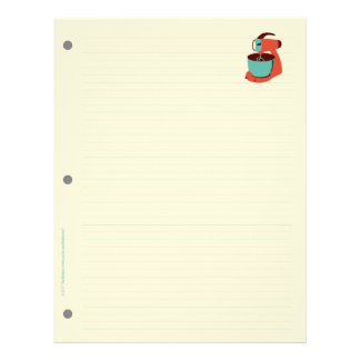 Retro Kitchen Filler Paper (double-sided)