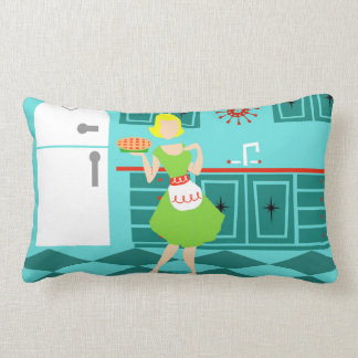 Retro Kitchen Lumbar Pillow