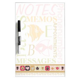 Retro Kitchen Memo Pad Dry Erase Board