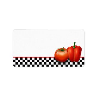 Retro Kitchen or Cooking Blank Address Labels