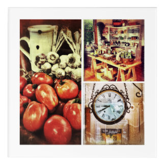 Retro Kitchen Picture Acrylic Wall Art