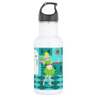 Retro Kitchen Water Bottle 18oz Water Bottle